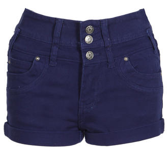 View Item Navy Blue High Waist Denim Shorts